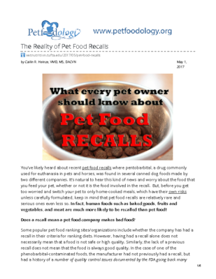 vetnutrition.tufts.edu-The Reality of Pet Food Recalls
