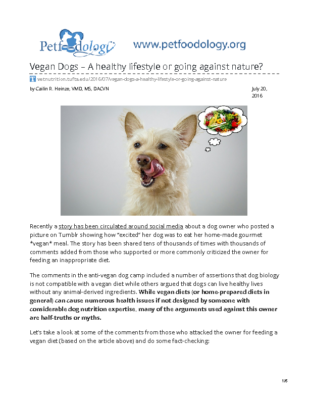vetnutrition.tufts.edu-Vegan Dogs A healthy lifestyle or going against nature